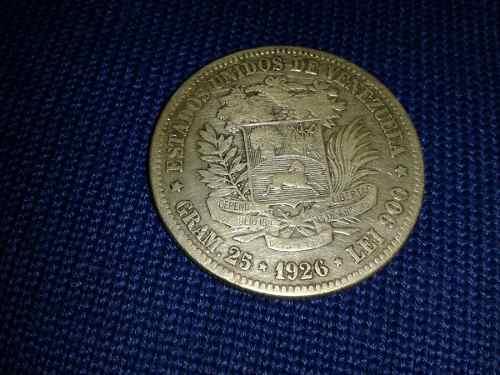 Moneda De Plata De Bolívar