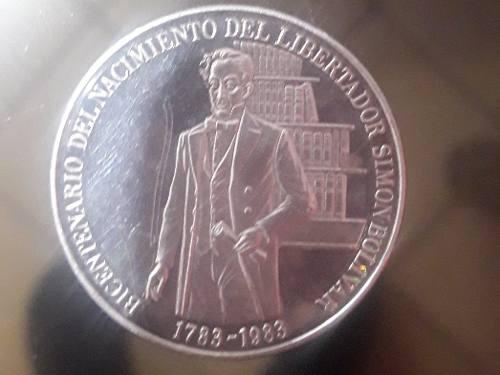 Moneda De Plata De Coleccion Bicentenario Del Nacimiento Del