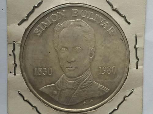 Moneda De Plata Simon Bolivar