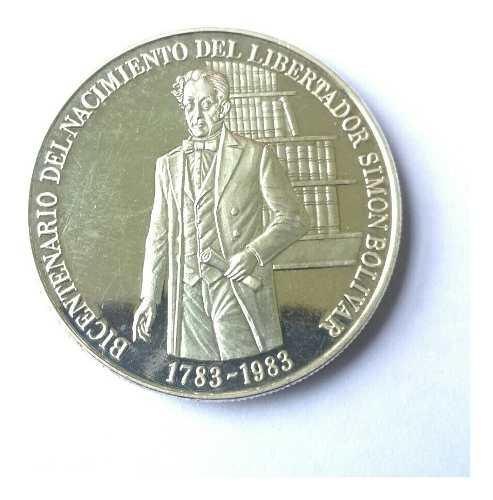 Moneda De Plata.bicentenario Nac. Libertador.