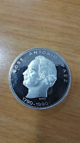 Moneda Jose Antonio Paez, Plata Ley 900