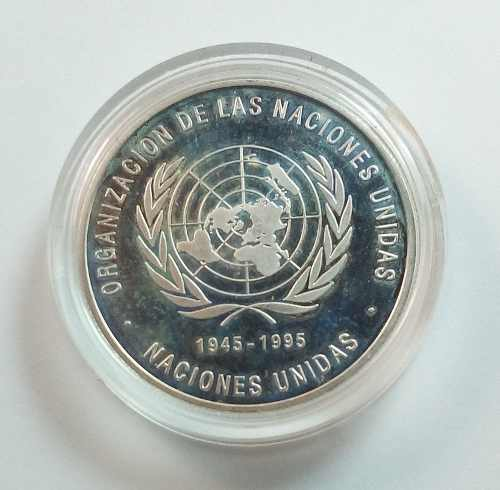 Moneda Onu 500 Bolívares De Venezuela Onza De Plata Capsula