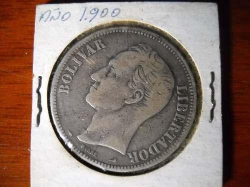 Moneda Plata Ley 900 Año