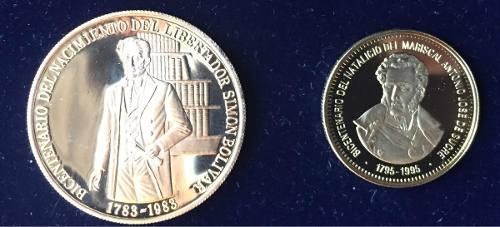 Monedas De Oro. Bicentenario Simón Bolívar Antonio José