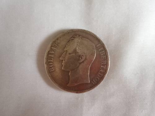 Monedas De Plata Antigua 5 Bs...coleccionistas Fuerte