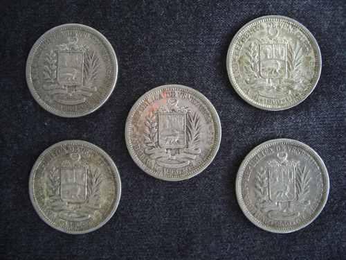 Monedas De Plata De 1 Bs De