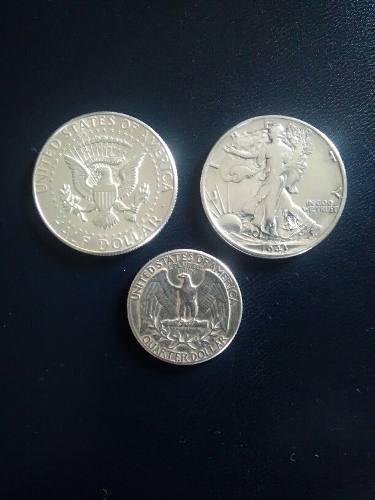 Monedas De Plata Lei 900 Americanas Años