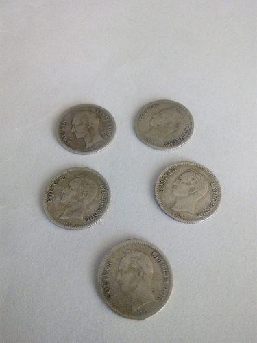 Monedas De Plata, Medios De Venezuela Años 46 Y 54