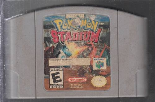 Pokemon Stadium Video Juego Original Usado Qq5. A8.