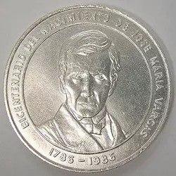 Se Vende Moneda De Plata Dr. Jose Maria Vargas
