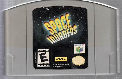 Space Invaders Video Juego Nintendo 64 Original Usado. Qq A8