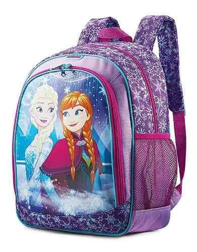Bolso Escolar Para Niña Frozen  Cm 100% Original