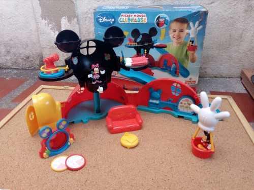 Casa De Mickey Mouse Con Accesorios Y Muñecos