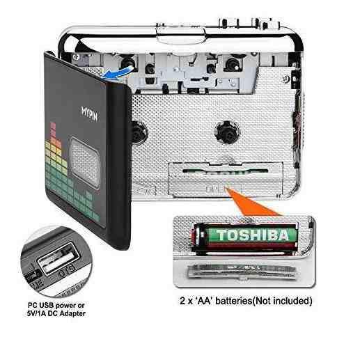 Convertidor Casete Mp3 Portatil Audio Reproductor Bx0w