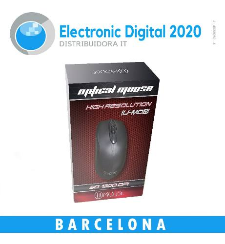 Mouse Optico Marca U-mouse (u-mo Dpi Usb