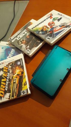 Nintendo 3ds Con Juegos Y Accesorios