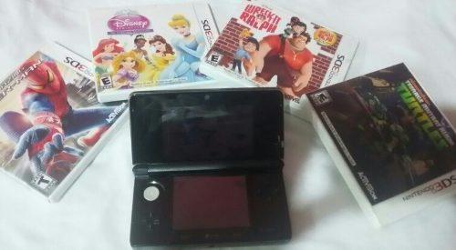 Nintendo 3ds Mini Con 4 Juegos Originales (80 Vrds)