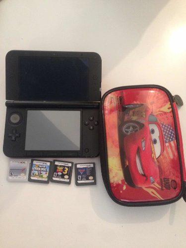 Nintendo 3ds Xl Usado Con 4 Juegos
