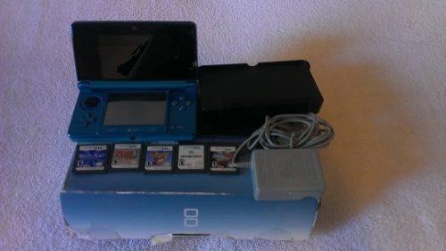 Nintendo Ds3d + 5 Juegos Originales (50 Verdes)