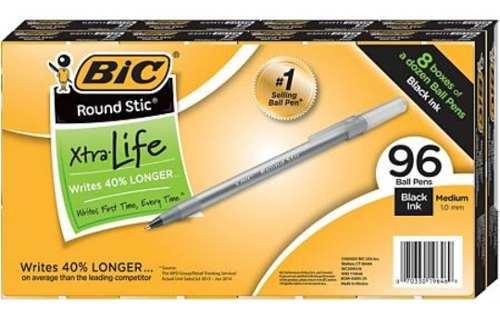 Caja 96 Bolígrafos Bic Extra Duración Precio X 12 (3