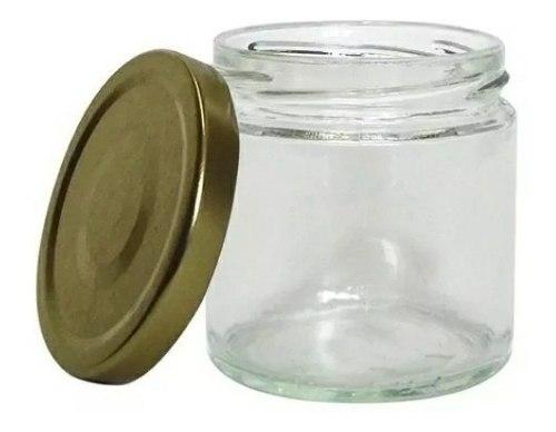 Envases De Vidrio Tipo Tarro 230 Ml Con Tapa Metálica