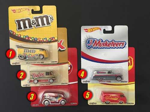 Hot Wheels Cultura Pop Nestle (Ruedas De Goma)