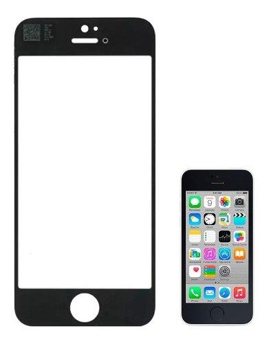 Mica Vidrio Apple iPhone 5c Negra Tienda Bagc