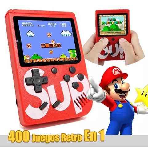 Nintendo Sup Portatil 400 Juegos Retro Video Game Oferta !!