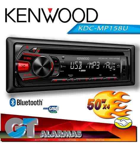 Radio Reproductor Kenwood Kdc-mp158u Usb / Mp3 / Aux