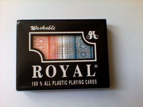 Cartas, Póker 100% Plásticas Royal, Mazo Grueso,originales