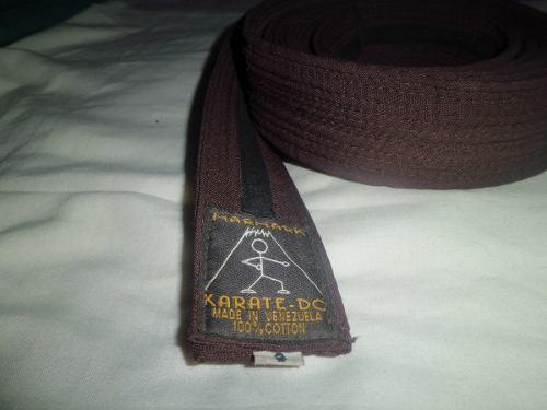 Cinturón Marrón De Karate Lopfre 3m