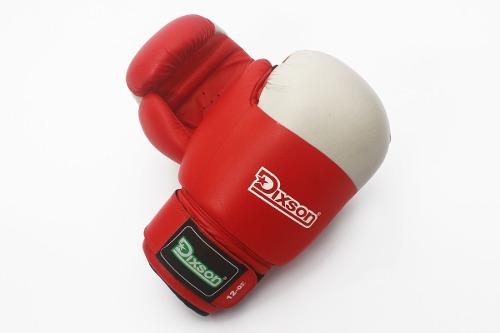 Guante De Boxeo Dixson Cuero Rojo 12 Onzas