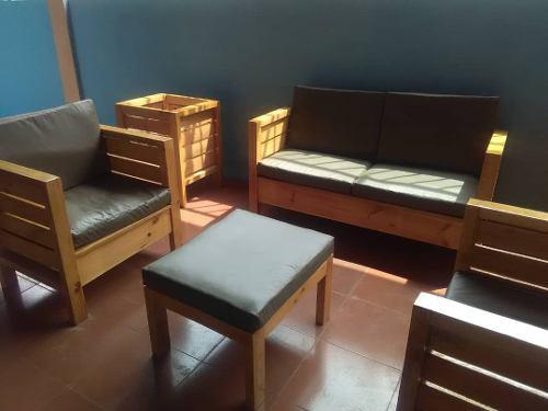 Juego De Muebles De Madera De Pino (somos Fabricantes)