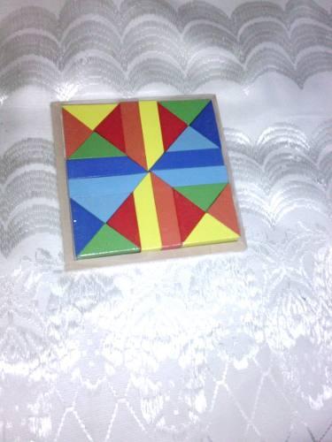 Juego Didactico Tangram En Madera 16x16 De Alto 2 Nuevo