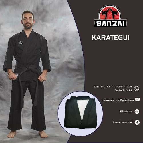 Karategui Banzai Negro -pesado- Talla 3 Al 4