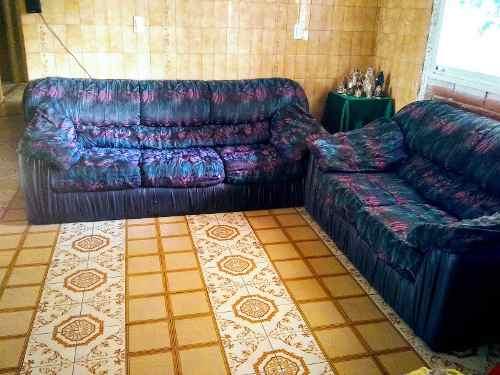Juego De 2 Sofás Para La Sala En Tela Y Bipiel 180v Remate