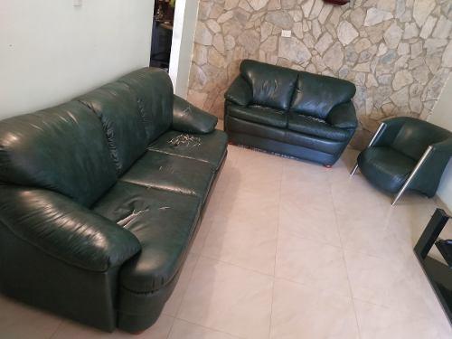 Juego De Muebles De Semicuero 2 Y 3 Puestos Para Sala