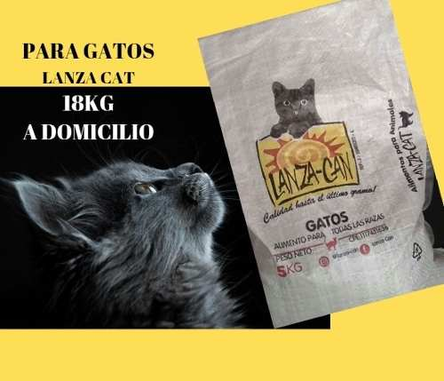 Lanza Can Gatos: Alimento Para Gatos 18kg