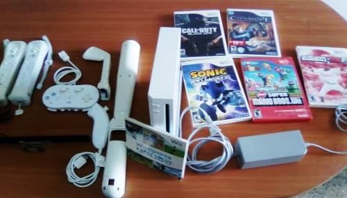 Nintendo Wii Original, Incluye Juegos Y Accesorios