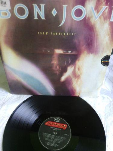 Bon Jovi ° Fahrenheit Lp Disco De Vinil Acetato