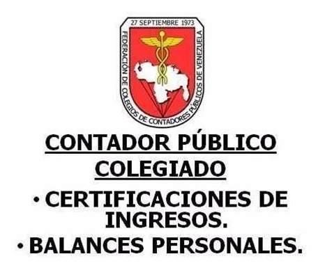 Certificación De Ingresos Y Balances Personales