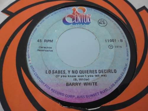 Lp / Barry White / Nena Mejor Estar Unidos / 45 Rpm /