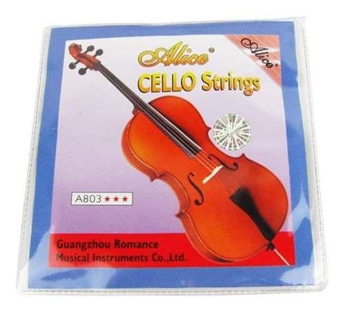 Set 4 Cuerdas Para Cello Alice A803