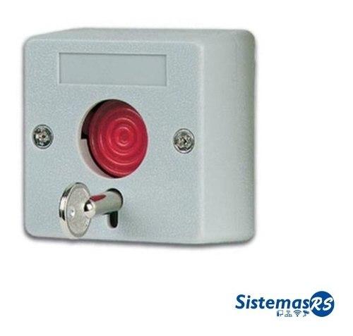 Boton De Panico Con Llave Alarma Cableada Seguridad