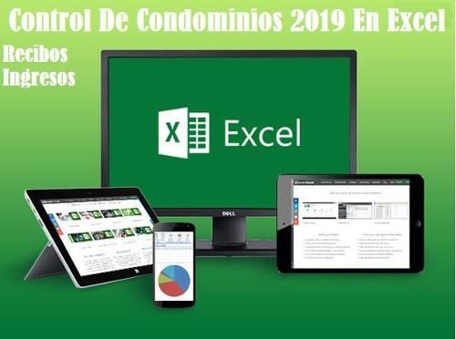 Control De Condominios  En Excel Recibos Ingresos