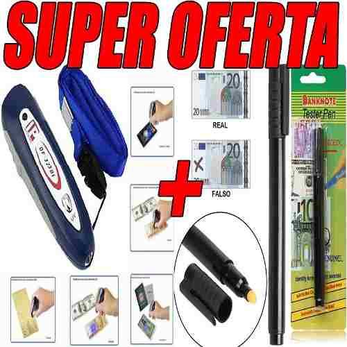 Detector De Billetes Falsos Luz Uv Banda Magnética +