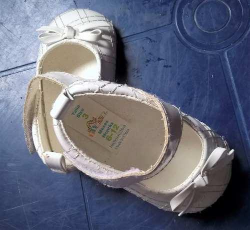 Zapatos De Niña Blancos Talla 3