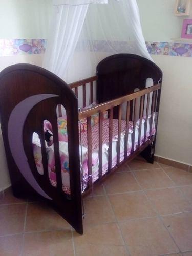 Cuna De Madera/colchon/armario (niña)