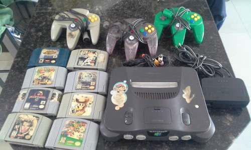 Nintendo 64 Con 8 Juegos Y 3 Controles