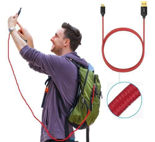 Cable Anker Micro Usb Nylon Carga Rápida 1.8mts Original
